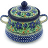 9-inch Stoneware Jar with Lid and Handles - Polmedia Polish Pottery H8600G