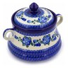 9-inch Stoneware Jar with Lid and Handles - Polmedia Polish Pottery H8866A