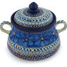 9-inch Stoneware Jar with Lid and Handles - Polmedia Polish Pottery H8985G