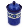 9-inch Stoneware Jar with Lid - Polmedia Polish Pottery H1216B