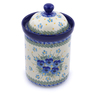 9-inch Stoneware Jar with Lid - Polmedia Polish Pottery H2438J