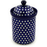 9-inch Stoneware Jar with Lid - Polmedia Polish Pottery H4109D