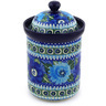 9-inch Stoneware Jar with Lid - Polmedia Polish Pottery H5586E