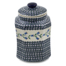 9-inch Stoneware Jar with Lid - Polmedia Polish Pottery H6764K