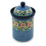 9-inch Stoneware Jar with Lid - Polmedia Polish Pottery H8722A