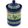 9-inch Stoneware Jar with Lid - Polmedia Polish Pottery H9103G