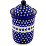 9-inch Stoneware Jar with Lid - Polmedia Polish Pottery H9375C
