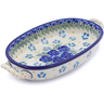 9-inch Stoneware Oval Baker with Handles - Polmedia Polish Pottery H2498J