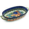 9-inch Stoneware Oval Baker with Handles - Polmedia Polish Pottery H4834H