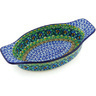 9-inch Stoneware Oval Baker with Handles - Polmedia Polish Pottery H6980G