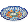 9-inch Stoneware Plate with Holes - Polmedia Polish Pottery H0682F