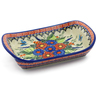 9-inch Stoneware Platter with Handles - Polmedia Polish Pottery H0877K