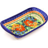 9-inch Stoneware Platter with Handles - Polmedia Polish Pottery H2206G