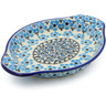 9-inch Stoneware Platter with Handles - Polmedia Polish Pottery H4010J