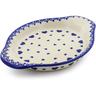 9-inch Stoneware Platter with Handles - Polmedia Polish Pottery H4013J