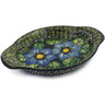 9-inch Stoneware Platter with Handles - Polmedia Polish Pottery H5413I