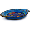 9-inch Stoneware Platter with Handles - Polmedia Polish Pottery H5417I