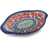 9-inch Stoneware Platter with Handles - Polmedia Polish Pottery H7686K