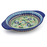 9-inch Stoneware Platter with Handles - Polmedia Polish Pottery H7692K