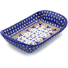 9-inch Stoneware Platter with Handles - Polmedia Polish Pottery H8768E