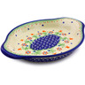 9-inch Stoneware Platter with Handles - Polmedia Polish Pottery H9553I