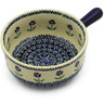 9-inch Stoneware Round Baker with Handles - Polmedia Polish Pottery H2760K