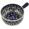 9-inch Stoneware Round Baker with Handles - Polmedia Polish Pottery H2764K