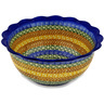 9-inch Stoneware Scalloped Bowl - Polmedia Polish Pottery H0141D