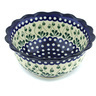 9-inch Stoneware Scalloped Bowl - Polmedia Polish Pottery H3408H