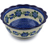 9-inch Stoneware Scalloped Bowl - Polmedia Polish Pottery H4395B