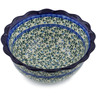 9-inch Stoneware Scalloped Bowl - Polmedia Polish Pottery H5077K