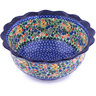 9-inch Stoneware Scalloped Bowl - Polmedia Polish Pottery H6264F