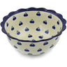 9-inch Stoneware Scalloped Bowl - Polmedia Polish Pottery H7777B