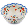 9-inch Stoneware Scalloped Bowl - Polmedia Polish Pottery H8938A