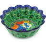 9-inch Stoneware Scalloped Fluted Bowl - Polmedia Polish Pottery H5051G