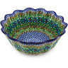 9-inch Stoneware Scalloped Fluted Bowl - Polmedia Polish Pottery H5851G