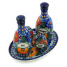 9-inch Stoneware Seasoning Set - Polmedia Polish Pottery H5213J