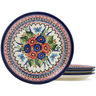 9-inch Stoneware Set of 4 Plates - Polmedia Polish Pottery H1032L