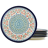 9-inch Stoneware Set of 6 Plates - Polmedia Polish Pottery H1034L