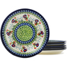 9-inch Stoneware Set of 6 Plates - Polmedia Polish Pottery H1040L