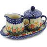 9-inch Stoneware Sugar and Creamer Set - Polmedia Polish Pottery H2429K