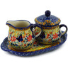 9-inch Stoneware Sugar and Creamer Set - Polmedia Polish Pottery H2678K