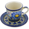 9 oz Stoneware Cup with Saucer - Polmedia Polish Pottery H9270I