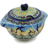9 oz Stoneware Sugar Bowl - Polmedia Polish Pottery H3094K