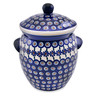 -inch Stoneware Jar with Lid and Handles - Polmedia Polish Pottery H7852L