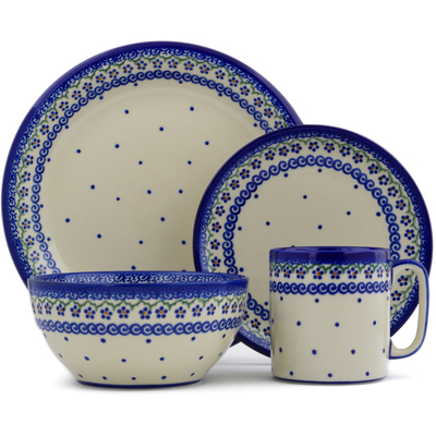 Polish Pottery 4-Piece Place Setting Simplicity