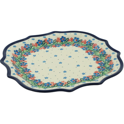 Polish Pottery 8 Point Plate Summer Wreath