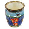 "Polish Pottery Aroma Oil Burner Lamp 4"" Field Of Butterflies UNIKAT"