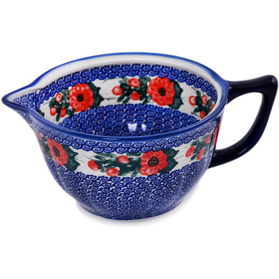 "Polish Pottery Batter Bowl "" Perfect Poppies"