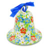 "Polish Pottery Bell Ornament 4"" Colorful Dizziness UNIKAT"